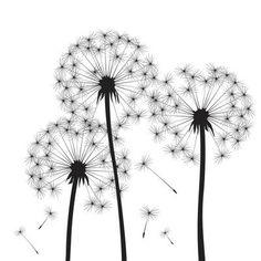 Croatian Tattoo, Dandelion Drawing, Gravure Laser, Flower Doodles, Office Art, Kids Decor, Line Art, Flower Art, Origami