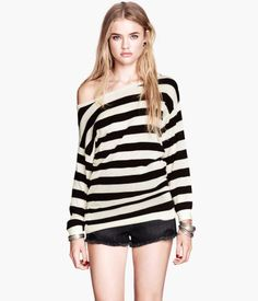 Basic Sweater by HM Black stripes