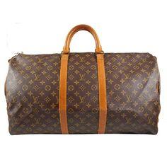 Louis Vuitton Vintage Monogram Canvas Keepall 55 Duffel Carry-On Bag see it on signatureparis.co