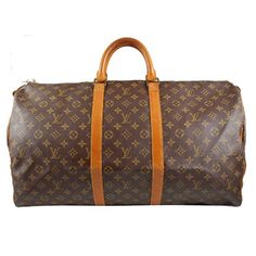 Vintage Louis Vuitton Vintage Monogram Canvas Keepall 55 Duffel Carry-On Bag