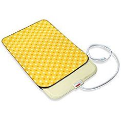 Fluffy Paws Indoor Pet Bed Warmer Electric Heated Pad with Free Cover (Dual Temperature & UL Certified), Yellow Dot Small – 12.3″ x 18″