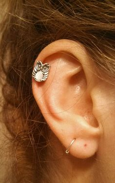 Owl Surgical Steel Cartliage Earring Piercing OWL. AND CARTILAGE PIERCING. I love my cartilage piercing <3