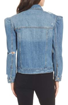 efbe751a Zara Women's Denim jacket with puff sleeves 5252/016 ($45) ❤ liked ...