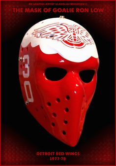Mask Ron Low #detroitredwings #hockey