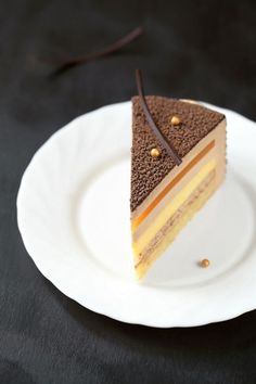 Ingredients: Butter biscuit with almonds: 80 g soft butter 80 g icing sugar Mirror Glaze Recipe, Mirror Glaze Cake, Apricot Dessert, Apricot Cake, Sweet Recipes, Cake Recipes, Opera Cake, Naked Cakes, Sweets