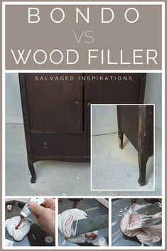 Furniture Repair Bondo Vs Wood Filler