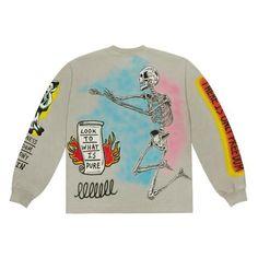 kenny west t shirt Dark Fashion, Cute Fashion, Tee Shirt Designs, Tee Shirts, Tees, Apparel Design, Custom Clothes, Crew Neck Sweatshirt, Street Wear