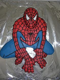 how to Spiderman cake