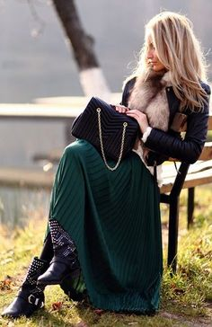 How To Wear A Maxi Skirt In Fall And Winter? by Style With Shannon