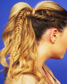hair tutorial two braids one fishtail great summer hair