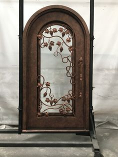 All of our doors are custom built to your exact dimensions. Please provide desired width and height for a free quote. Door Gate Design, Wrought Iron Doors, Home Office Decor, Home Decor, Steel Doors, Interiores Design, Oversized Mirror, Building, Cave