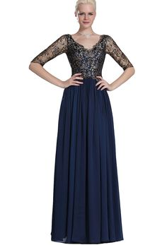 Angel Formal Dresses Dark Navy V-neck Chiffon Mother of the Bride Dresses * Unbelievable  item right here! : formal dresses