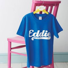personalised child's name t shirt by flaming imp | notonthehighstreet.com