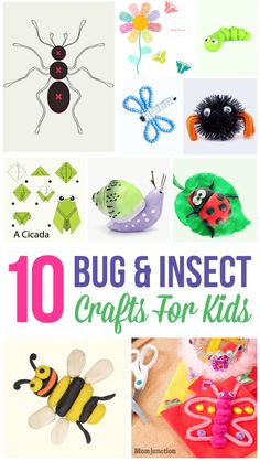 rx online Top 10 Bug & Insect Crafts For Kids: ten super creative insect craftworks to hel… Top 10 Bug & Insect Crafts For Kids: ten super creative insect craftworks to help her get started. Insect Crafts, Bug Crafts, Camping Crafts, Bug Insect, Insect Activities, Craft Activities, Preschool Crafts, Nature Activities, Crafts For Kids To Make