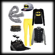 """batman outfit"" by gabbygoo09 on Polyvore"