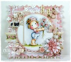 Hi there! Today I'm sharing with you a card made for Craft-Heaven inspirational blog. For this card I've used Tilda Bringing F...