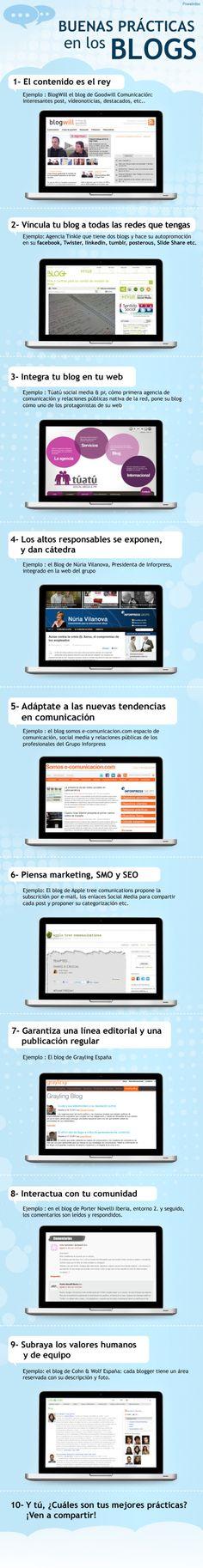 9 buenas prácticas en los blogs #socialmedia #blogger #socialmarketing