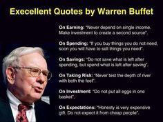 Great quotes from Warren Buffet #invest #money