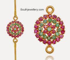 Mugappu Designs for Thali Chains - Indian Jewellery Designs Gold Wedding Jewelry, Gold Jewelry Simple, Bridal Jewelry, Beaded Jewelry, Indian Jewellery Design, Jewelry Design, 1 Gram Gold Jewellery, Temple Jewellery, Gold Chain Design