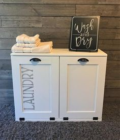 This type of photo can be a very inspirational and excellent idea Basement Laundry, Basement Storage, Laundry Room, Basement Bathroom, Basement Ideas, Tilt Out Laundry Hamper, Wash N Dry, Home Decor, Master Bath