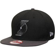 wholesale dealer 34b9b 1e143 Men s Portland Trail Blazers New Era Black Official Team Color 9FIFTY  Adjustable Snapback Hat,  29.99   Portland Trail Blazers Caps   Hats    Pinterest ...