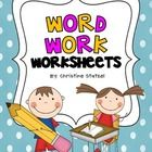 Free-4 worksheets you can use as during word work, work on words time, or you can send it home for homework!    Enjoy!    Christine...