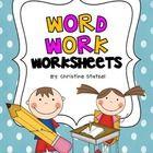 Freebie! 4 word work worksheets