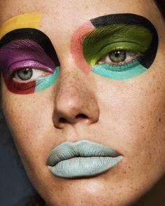Graphic art beauty for Hunger TV's Young Blood series. PHOTOGRAPHY Soraya Zaman // STYLIST Nika Belyaeva // MAKE-UP Mari Shten // HAIR Drew Schaefering