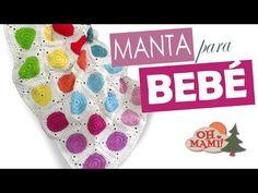 Manta para bebé a crochet SUPERFÁCIL! - YouTube Crochet Bedspread, Crochet Blankets, Granny Videos, Kids Blankets, Manta Crochet, Crochet Bebe, Square Blanket, Baby Dress, Lana