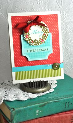 Wreath For All Seasons Christmas Card by Dawn McVey for Papertrey Ink (September 2012)