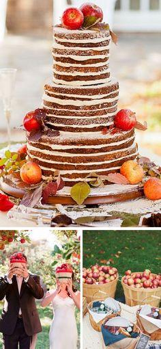 Apple inspired wedding details