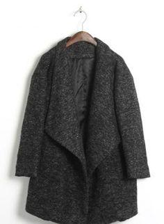Oversized Lapels Tweed Coat,  Outerwear, Lapels Tweed Coat oversized coat long, Urban / Streetwear