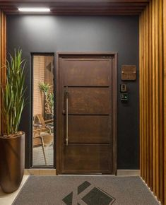 45 Modern Front Door Entrance Ideas to Make Great First Impressions - How to Pick a New Door Modern Entrance Door, Main Entrance Door Design, Modern Exterior Doors, Home Entrance Decor, Modern Front Door, Front Door Design, Modern Wood Doors, Modern Entry, Entrance Ideas