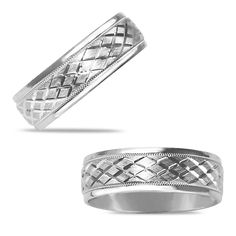 Etsy NissoniJewelry presents - 7mm Engraved Comfort Fit Wedding Band in 14k White Gold    Model Number:W5920W4-070100    https://www.etsy.com/ru/listing/275597774/7mm-engraved-comfort-fit-wedding-band-in