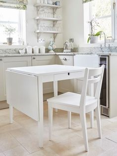 Interiors | Accessories | Nordic Style | Drop-leaf Table with Drawers