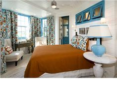 Watersound Beach, Florida - Beautiful Color Pallete of Teal, Orange and White Family Room, Home And Family, Luxury Homes Dream Houses, Colour Pallete, Commercial Real Estate, Florida Home, Dream Bedroom, Luxury Real Estate, Beautiful Homes