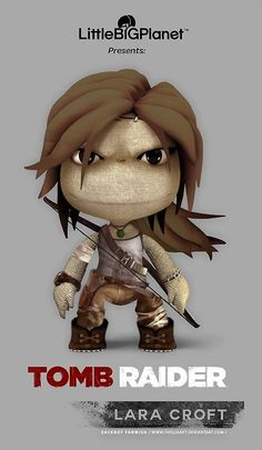 This is a sackboy outfit fanwish I did, because I haven't seen any at this time and was a bit jealous Drake got one and not Lara ^^ SACKBOY LARA Tom Raider, Tomb Raider Game, Tomb Raider Lara Croft, Character Modeling, Game Character, Little Big Planet, Boy Art, Raiders, Concept Art