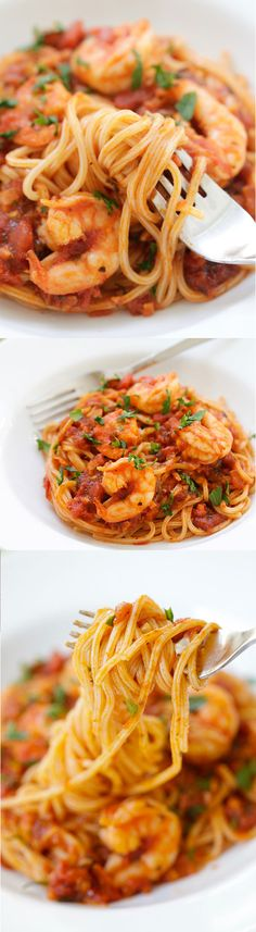 Frugal Food Items - How To Prepare Dinner And Luxuriate In Delightful Meals Without Having Shelling Out A Fortune Shrimp Spaghetti The Easiest And Most Delicious Shrimp Spaghetti That Even The Pickiest Eater Likes, Quick, Easy And Takes 20 Mins Seafood Pasta Recipes, Shrimp Dishes, Spaghetti Recipes, Pasta Dishes, Fish Recipes, New Recipes, Dinner Recipes, Cooking Recipes, Favorite Recipes