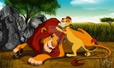 Simba and Kion having a father son moment. Simba spending so much time with Kiara he sometimes forget to be with Kion. Mufasa might know alot and Kion a. The Lion King 1994, Lion King Fan Art, Lion King Movie, Disney Lion King, Hyena Lion King, All Disney Movies, Lion Pictures, Le Roi Lion, Disney Fan Art