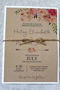 Country Wedding Invitation Ideas Awesome 24 Rustic Wedding Invitations to Impress Your Guests Wedding Invitation Inspiration, Country Wedding Invitations, Beautiful Wedding Invitations, Rustic Invitations, Wedding Invitation Design, Wedding Stationery, Invitation Ideas, Event Invitations, Invitations Online