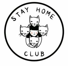 illustration : stay home club Crazy Cat Lady, Crazy Cats, Desu Desu, 2 Logo, Here Kitty Kitty, Introvert, Infj, I Love Cats, Cat Art
