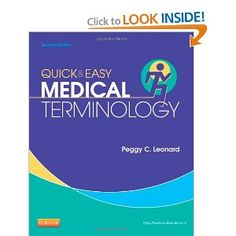 Make studying medical terminology sooner and extra fun with Quick & Easy Medical Terminology, seventh Version! Presenting terms in the context of body techniques, this e book helps you begin reading, writing, and speaking medical phrases within the shortest time possible. Small chunks of knowledge are at all times adopted instantly by workouts, so you'll be learning each minute! This edition adds oodles of many new illustrations and a new Particular Senses chapter Medicine Book, Medical Terminology, Note Taking, Studying, Workouts, Knowledge, Science, Illustrations, Times