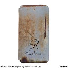 Wallet Case. Monogram.