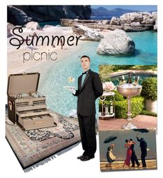 """""""picnic for the rich"""" by kitchqueen on Polyvore featuring interior, interiors, interior design, home, home decor, interior decorating, Zodax, Louis Vuitton and summeroutdoordining"""