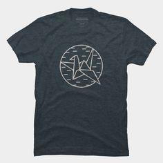 Vintage Paper crane T-shirt!