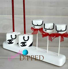 Chanel Themed Purse Cake Pops and Rice Krispy Treats