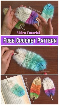 crochet stitches patterns DIY Macrame Feather With Crochet Cord Free Pattern - Video Tutorial - DIY Macrame Feather With Crochet Cord Free Pattern - Video Tutorial Crochet Gratis, Free Crochet, Macrame Projects, Crochet Projects, Diy Projects, Crochet Stitches Patterns, Stitch Patterns, Crochet Bookmark Patterns Free, Free Macrame Patterns