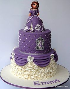 Sofia the first 3 tier cake....wow!!!