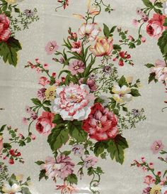Mario Buatta Floral Chintz Fabric Peggy's Bouquet by PruAtelier - Fabric has sold, only drapes available.