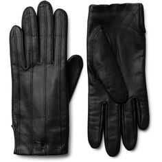 Toss Leather Gloves ❤ liked on Polyvore featuring accessories, gloves and leather gloves
